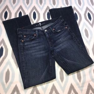 7 For All Mankind Kimmie Blue Bootcut Denim Jeans